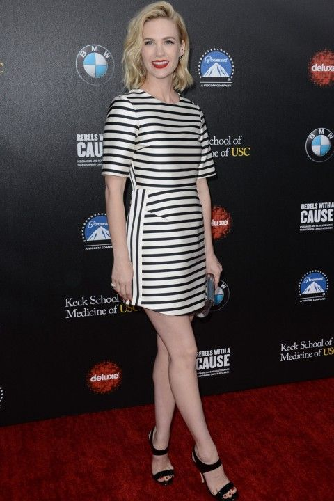 That Topshop dress!  January Jones on the red carpet