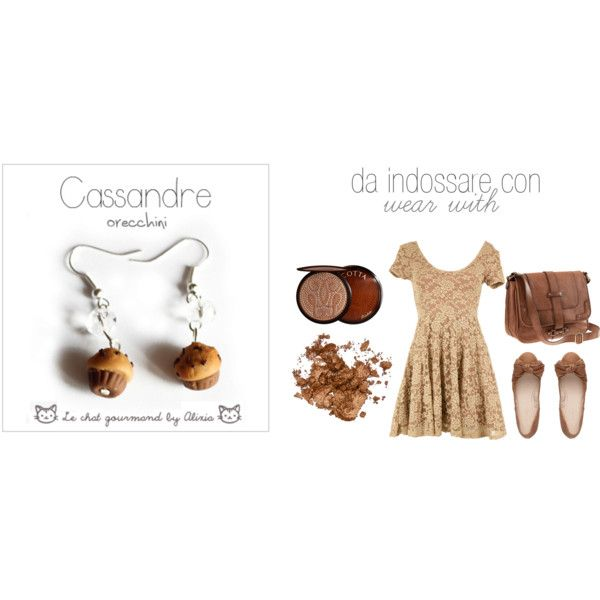 cassandre - earrings - Le chat gourmand by Alixia, created by alixia88.polyvore.com