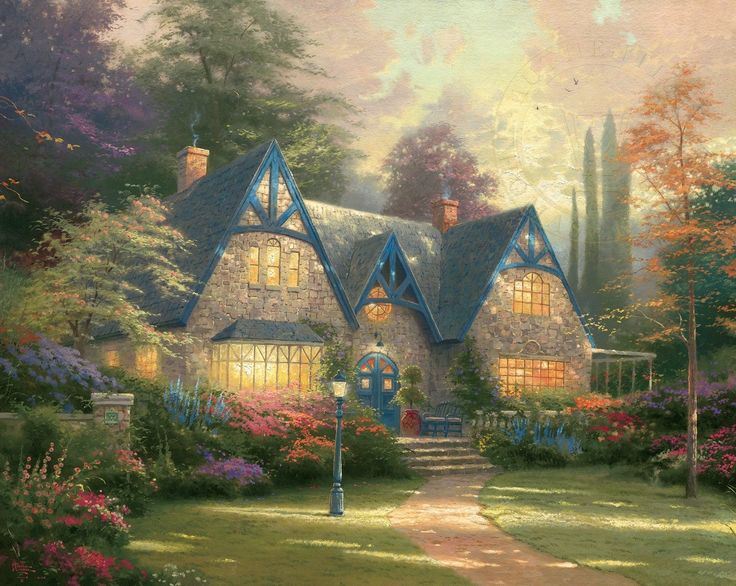 Winsor Manor,  by Thomas Kinkade (1996)
