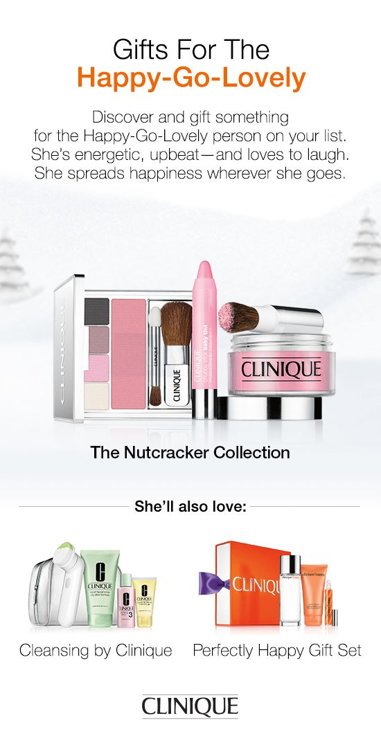 Discover and gift something for the Happy-Go-Lovely person on your list. She'll love The Nutcracker Suite Collection, only from #Clinique.