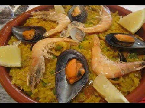 PAELLA WITH SEAFOOD (TYPICAL SPANISH). PAELLA CON MARISCO TIME: 1 HOUR ...