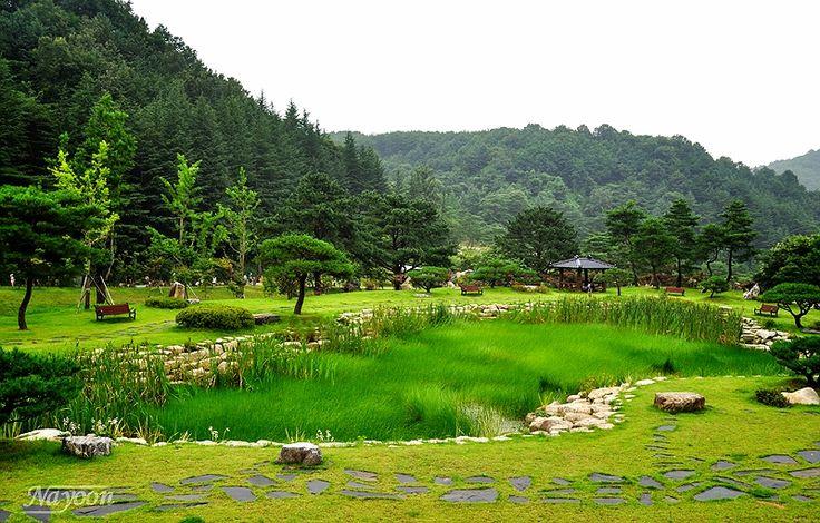국내외 유명한 조각자들의 작품을 감상 할 수 있는 김천 <직지문화공원>