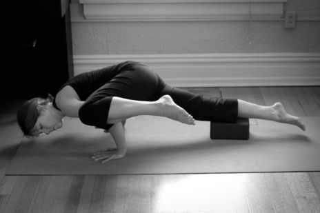 advanced poses with blocks  koundinyasana a  good idea
