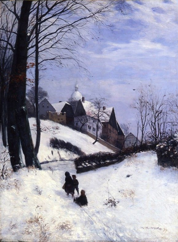 Otto Modersohn: Winter am Wellenberg, Tecklenburg 1892