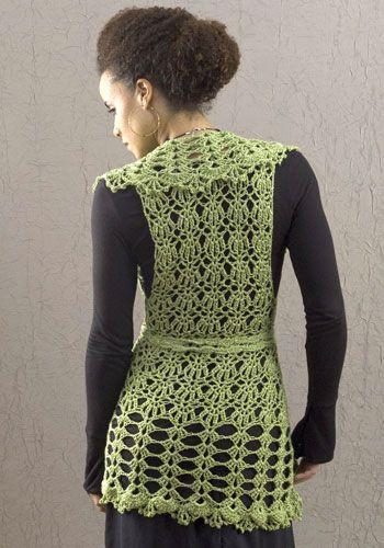Lacy Crochet Tunic Vest