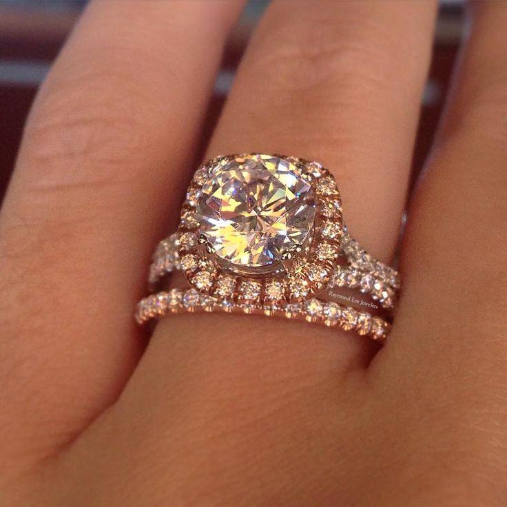 Amazing two tone rose gold engagement ring