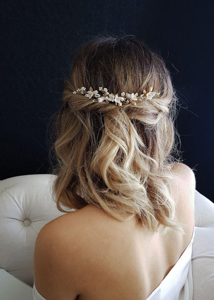 37 wunderschöne halb hoch halb runter Frisuren für die moderne Braut – TANIA MARAS | b …   – Hair:)