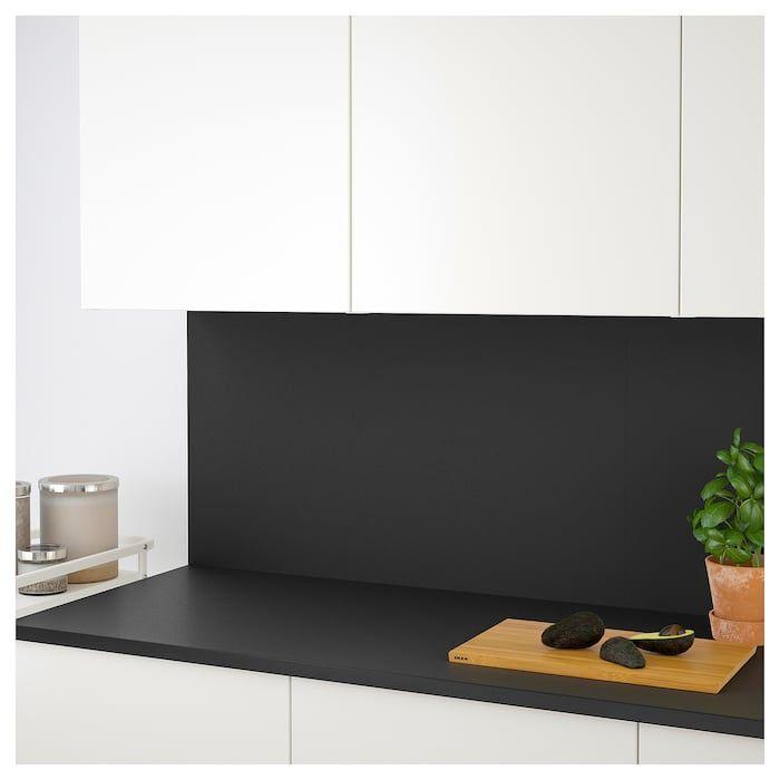 Ekbacken Countertop Matte Anthracite Laminate 98x1 1 8 Plan De Travail Ikea Stratifie