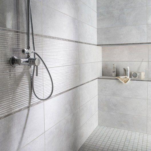 Faïence mur gris brume, Live l.24 x L.69 cm 26.95 € / m² soit 31.26€ / Carton