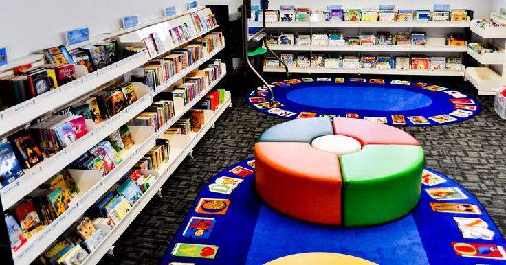 Playful Library Interiors perfect for Kids areas. Supplied by Raeco Library Solutions. www.raeco.com.au