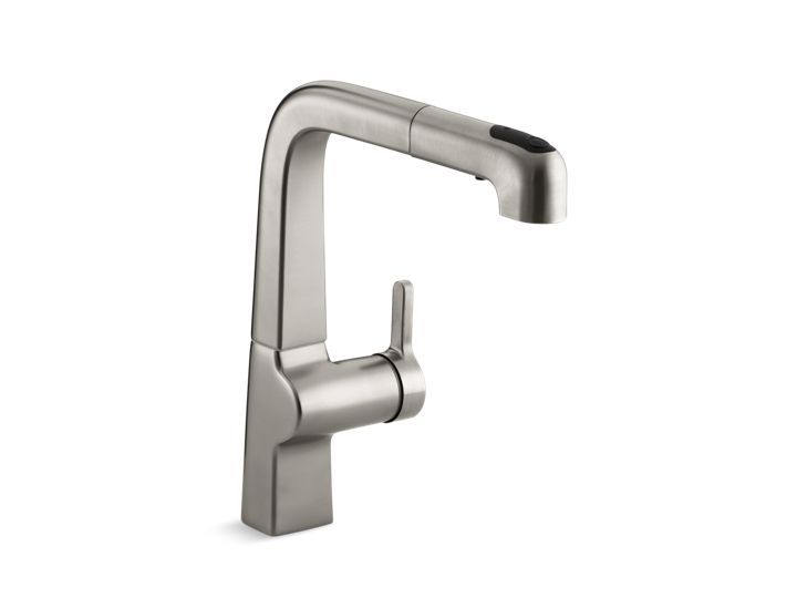 Bring elegant, minimalist style to your contemporary decor with this Evoke kitchen sink faucet.