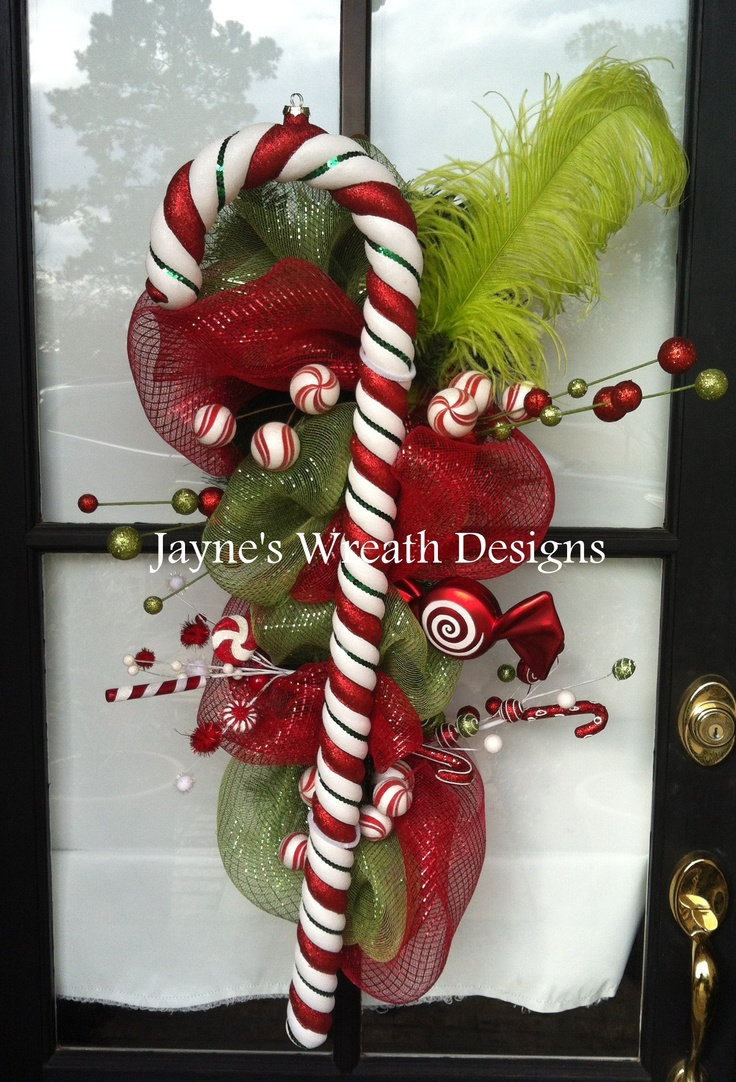 Candy Cane wreath/ swag