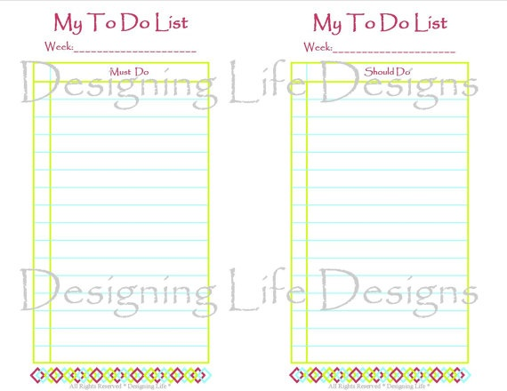 99 best My Printables by Designing Life images on Pinterest Pdf - microsoft templates to do list