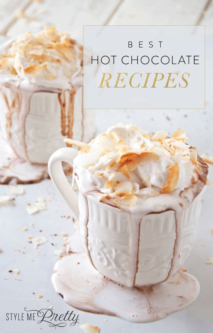 Hot Cocoa recipes that will keep you warm this winter! http://www.stylemepretty.com/living/2016/01/13/best-hot-chocolate-cocoa-recipe/