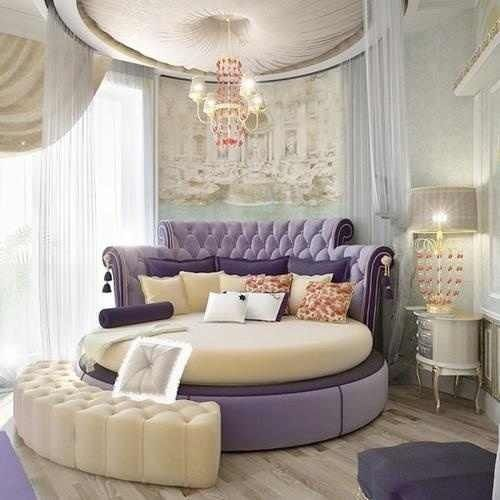 27+ Round Beds Design Ideas To Spice Up Your Bedroom | Elegant Girls Bedroom,  Bedrooms And Modern