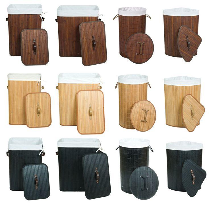Wäschekorb Wäschesammler Wäschetruhe Bambus - 100L 70L Rund Eckig - freie Wahl | Möbel & Wohnen, Haushalt, Wäsche | eBay!