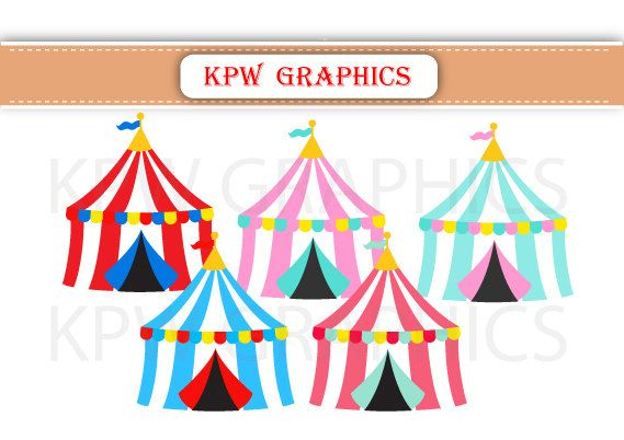 Circus Carnival Big Top Tents PNG Personal & Small by KPWgraphics