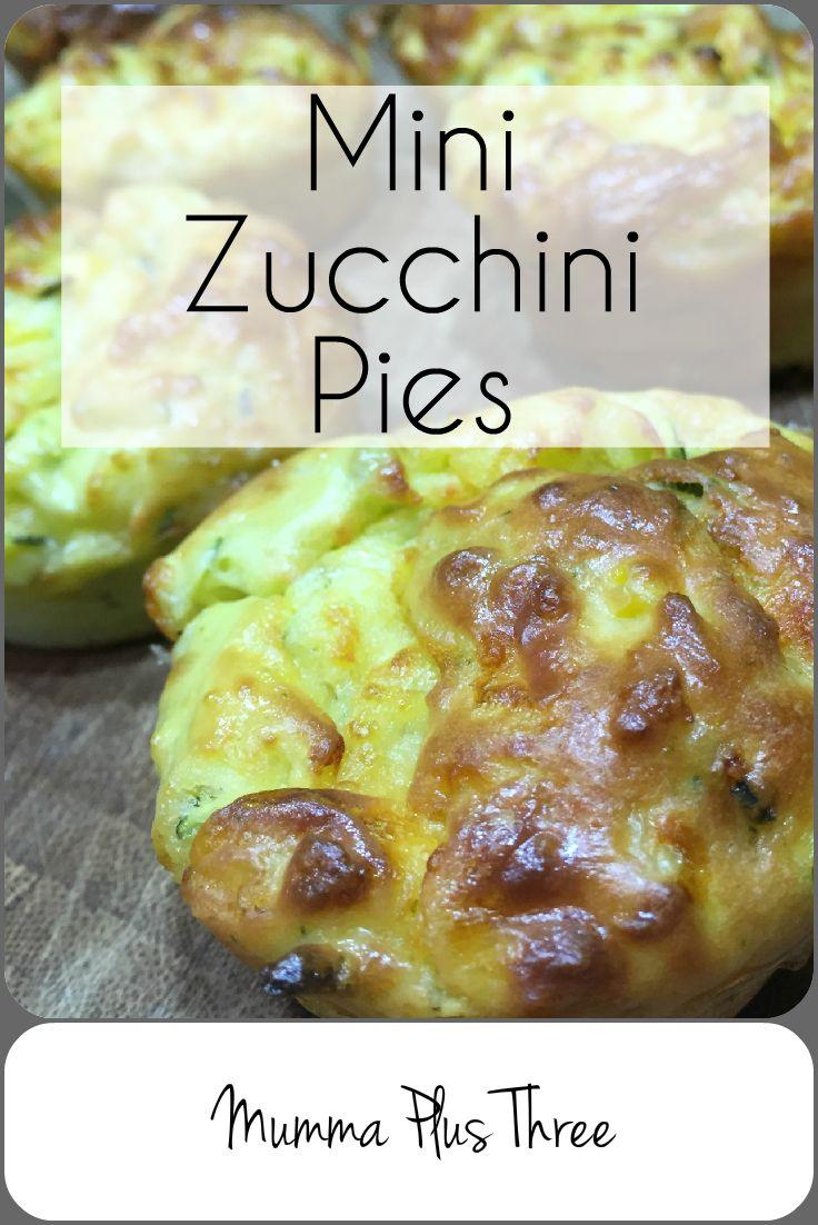 Mini Zucchini Pies - Mumma Plus Three