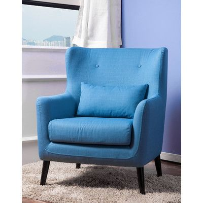 Merax Wingback Upholstered Arm Chair