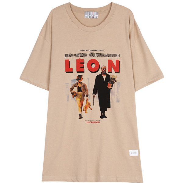WIDE FIT LEON T SHIRT (BEIGE) ❤ liked on Polyvore featuring tops, t-shirts, pink t shirt, pink tee, beige top, beige t shirt and pink top