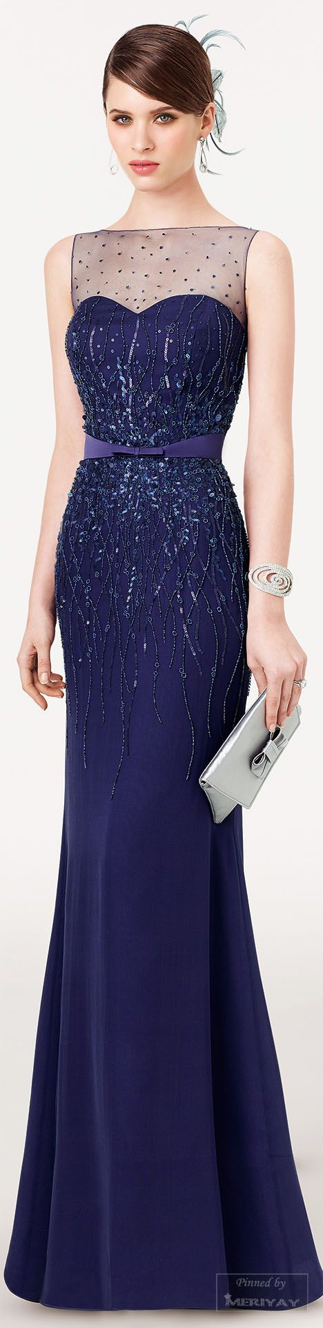 Aire Barcelona ~ Evening Gown, Navy, .2015