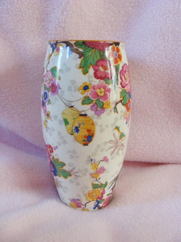 Crown Ducal English Vintage Floral Vase Chinese Lanterns Chintz - have a plate in this design