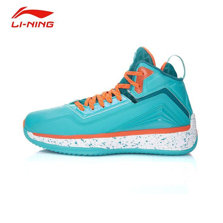 Li-Ning Men's Impact resistance Basketball Shoes Li Ning Anti-Slip Damping Lace-Up Outdoor Wearproof Sports Sneakers ABFK011
