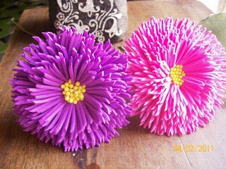 Tinas Creations: Instructions on making the foam flower