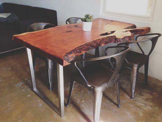 eclectic modern custom wood slab table desk console anthro modern home pinterest. Black Bedroom Furniture Sets. Home Design Ideas