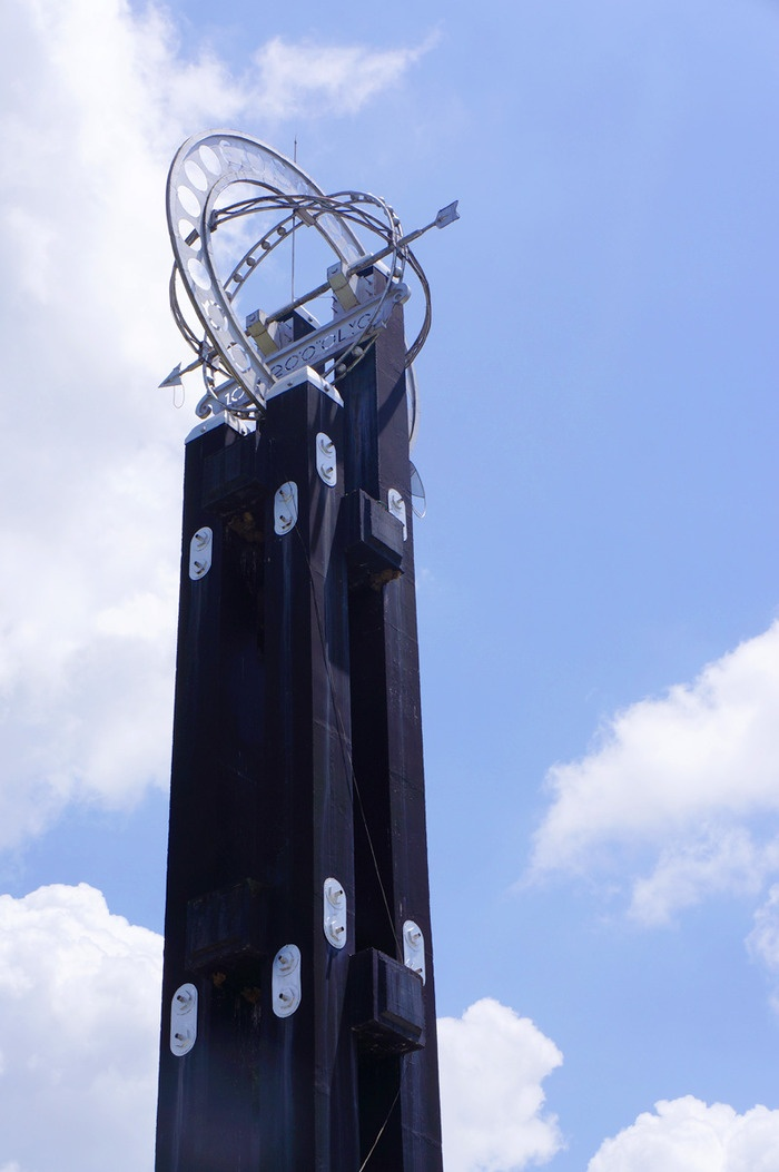The citys pride; The equator monument of Pontianak. Indonesia.