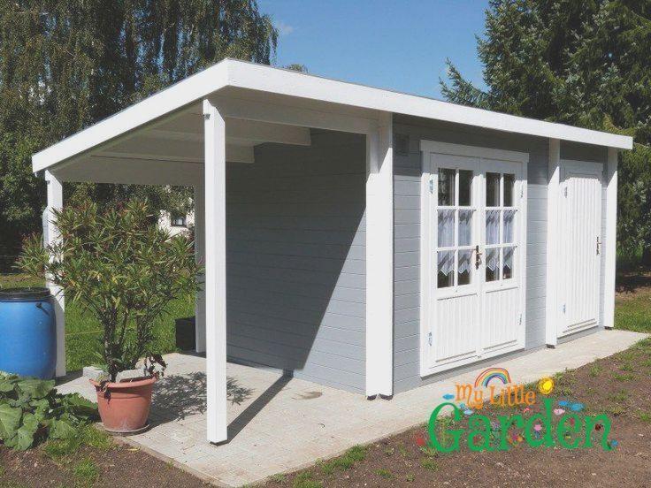 Abri De Jardin Danois Jardin Tendance Jardinier Gris Blanc In 2020 Gartenhaus Gartenhaus Grau Gartendesign Ideen