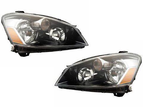 Nissan Altima HalogenType Black Headlights Headlamps New Set -- Click image for more details.
