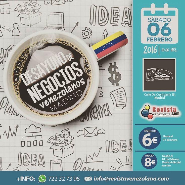 Buen provecho.... Vamos afinando detalle de lo que será este desayuno de Negocios Venezolanos en Madrid este Sabado 6 de Febrero en el Restaurante Colombiano la suegra. Ve preparando tus tarjetas de visita....