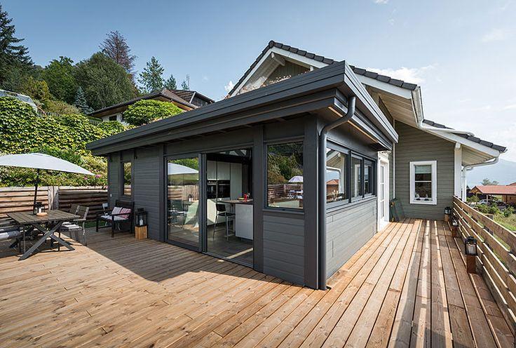 Les 25 meilleures idées de la catégorie Veranda toit plat sur Pinterest   Fenetre de toit fixe ...