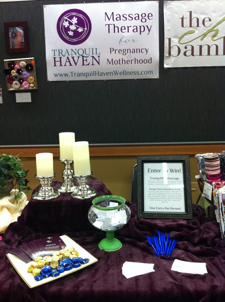 here is a half table 3 feet setup for a prenatal massage business