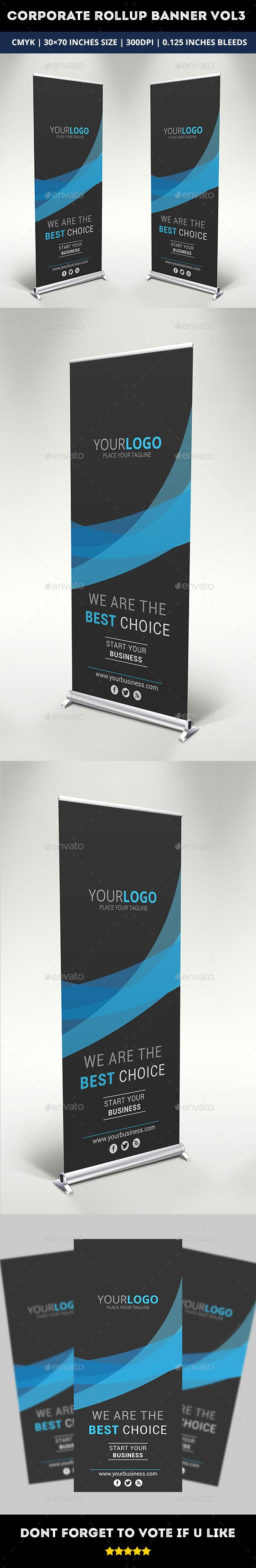 Corporate Rollup Banner Template #design Download: http://graphicriver.net/item/corporate-rollup-banner-vol-3/10521930?ref=ksioks