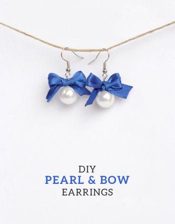 DIY+Pearl+&+Bow+Earrings