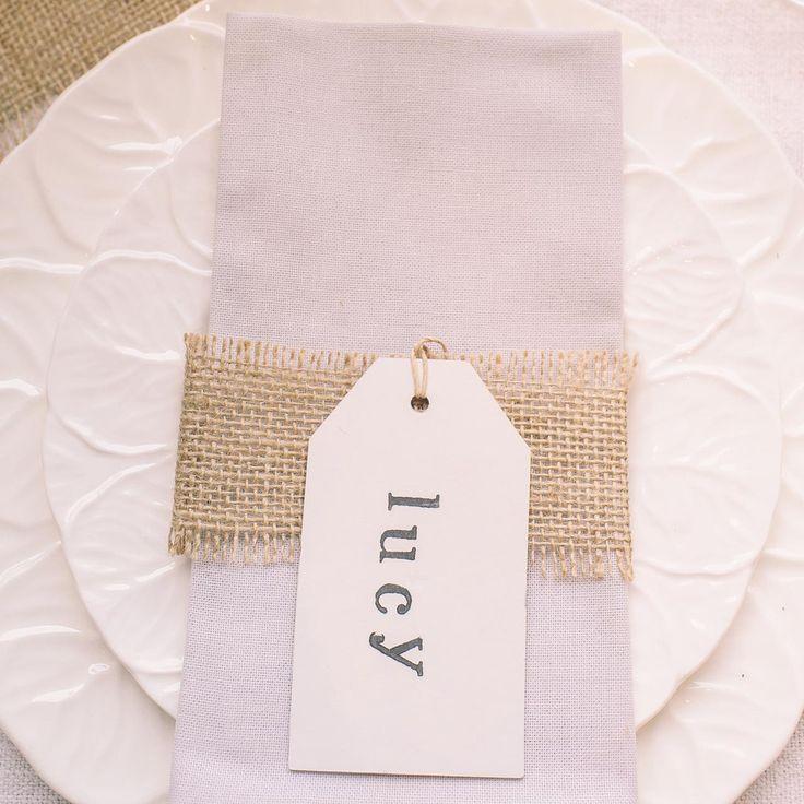 hessian fabric weddings