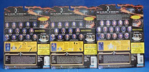 Star-Trek-Generations-1994-Figure-Set-of-3-Playmates-Data-Dr-Soran-B-039-etor