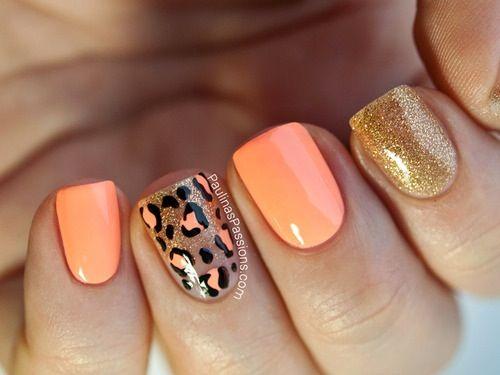 Cheetah and coral <3