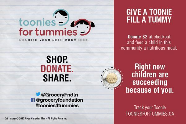 Find out how you can donate a Toonie to help provide a child in your area with a nutritional meal. #Toonies4Tummies