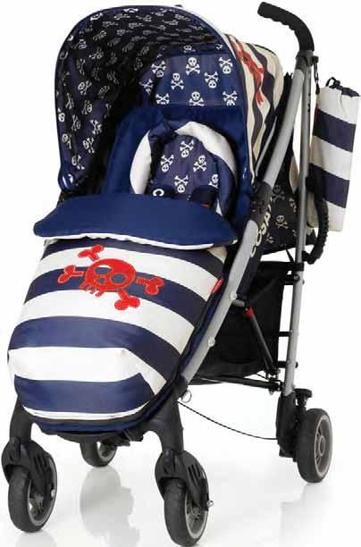 Pirate stroller that has matching diaper bags