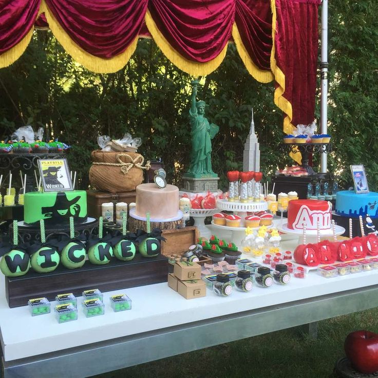 Incredible Broadway shows birthday party! See more party planning ideas at CatchMyParty.com!