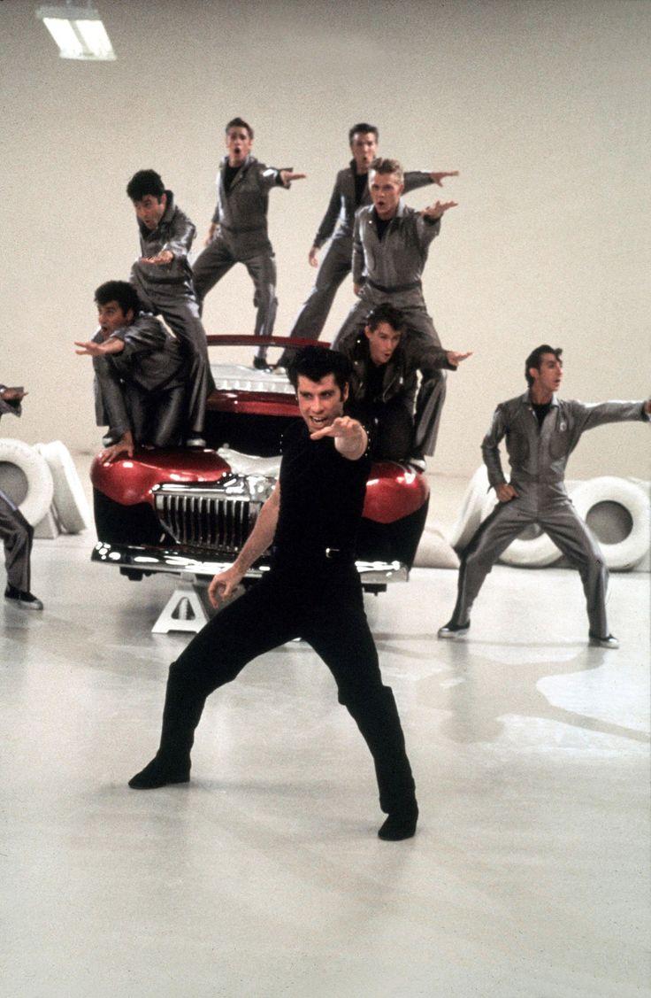 Danny zuko black t shirt - John Travolta As Danny Zuko The T Birds Grease