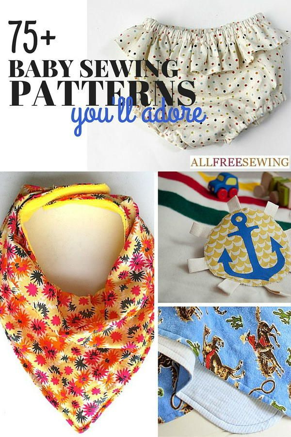 75+ Free Baby Sewing Patterns You'll Adore | Oh baby! Make these for a baby shower.