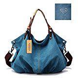 #10: Kaylena ハンドバッグ 防水帆布 女性用 ギョーザの形 ブルー