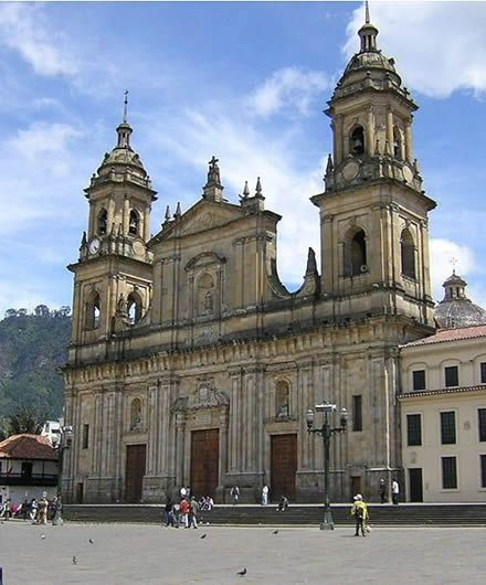 Primary Cathedral of Bogota (Columbia , South America). Constructed between 1807 thru 1823