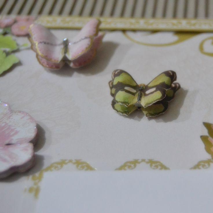 wedding scrapbbok details - butterflies