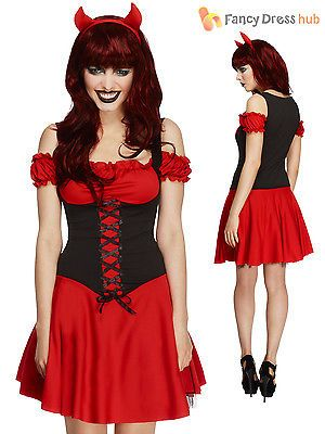 Womens #ladies #fever wicked devil #fancy dress costume halloween sexy outfit 8 1, View more on the LINK: http://www.zeppy.io/product/gb/2/401011975445/