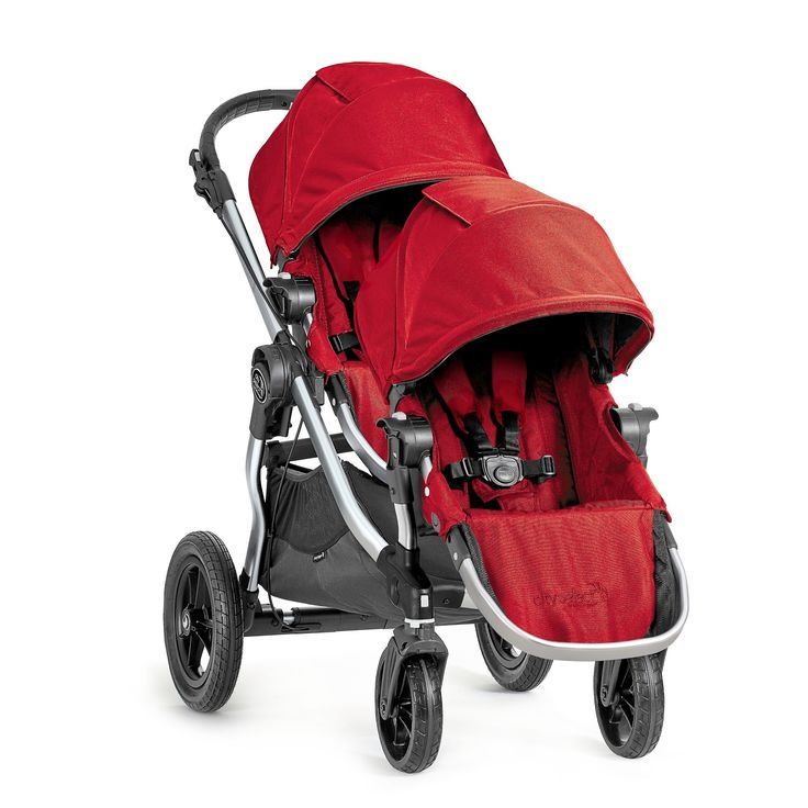 Baby Jogger City Select Stroller with Second Seat- Ruby (Red)